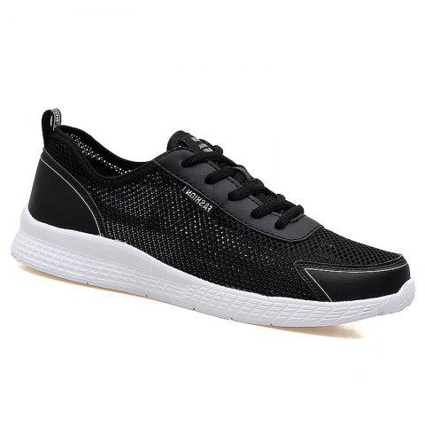 Super Light Breathable Sneakers - BLACK 42