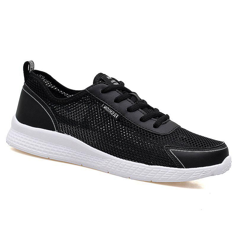 Super Light Breathable Sneakers - BLACK 45