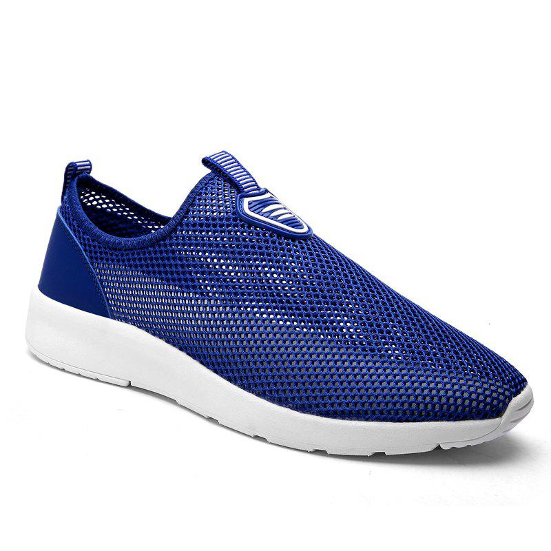 Slip on Light Breathable Sneakers - BLUE 47