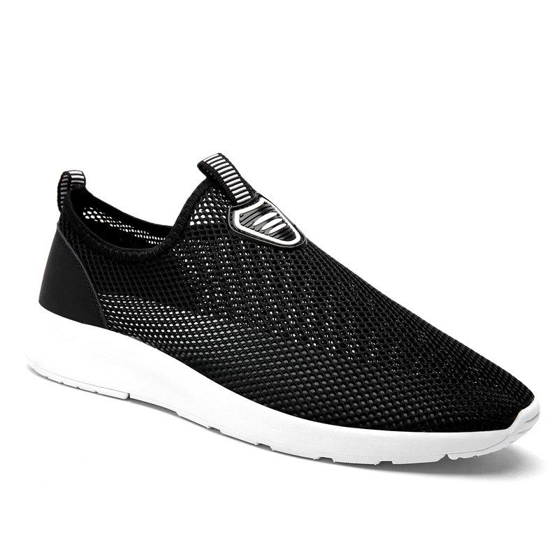 Slip on Light Breathable Sneakers - BLACK 42