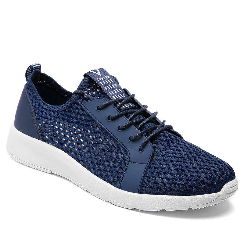 Light Breathable Men Sneakers - BLUE 48