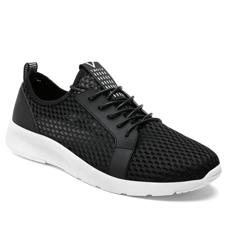 Light Breathable Men Sneakers - BLACK 45