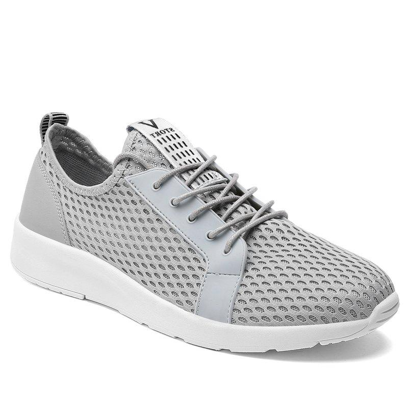 Light Breathable Men Sneakers - GRAY 43