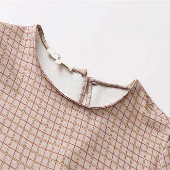 New Women's Lotus Leaf Checked Tops in 2017 - PAPAYA S