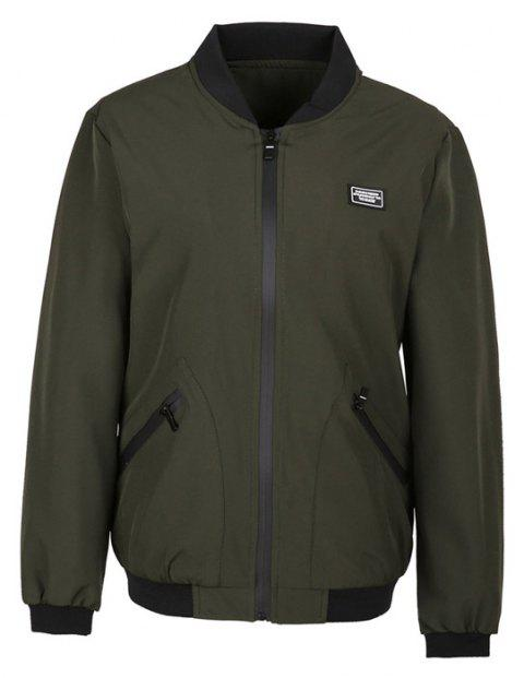 Fashion Men's Long Sleeved Jacket Collar - HAMPTON GREEN L