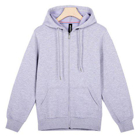 Lovers Comfort Hooded Sports Hoodies - OYSTER L