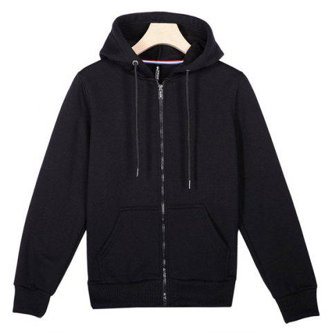 Lovers Comfort Hooded Sports Hoodies - BLACK L