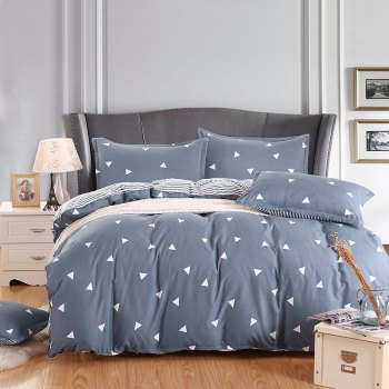 weina 4-piece Cotton Warm Little Triangle Pattern Bedding Set