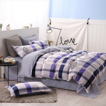 weina 4-piece Cotton Warm Peacock Pattern Bedding Set - COLORMIX COLORMIX
