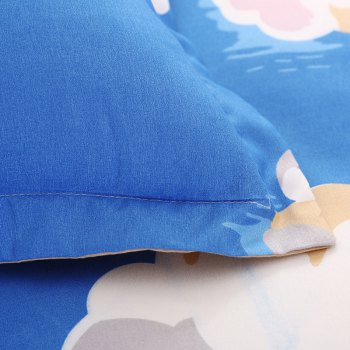 weina 4-piece Cotton Warm Cloud Pattern Bedding Set - BLUE BLUE