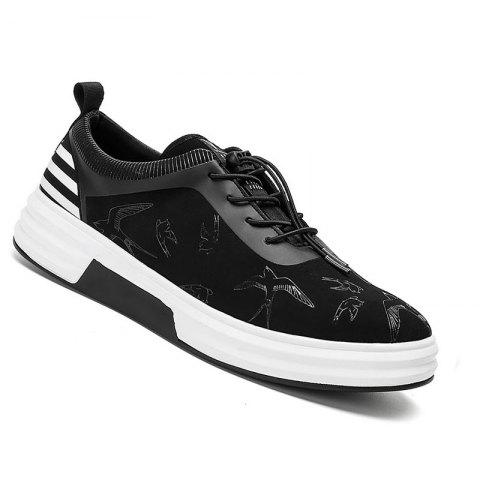 New Arrival Classics Style Men Running Sport Outdoor Jogging Walking Athletic Shoes39-44 - BLACK WHITE 39