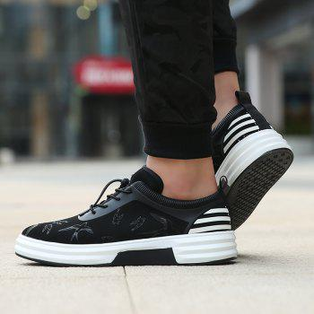 New Arrival Classics Style Men Running Sport Outdoor Jogging Walking Athletic Shoes39-44 - BLACK WHITE 44