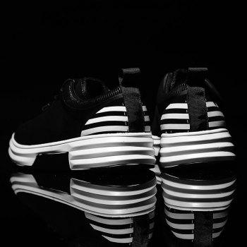 New Arrival Classics Style Men Running Sport Outdoor Jogging Walking Athletic Shoes39-44 - BLACK WHITE 42