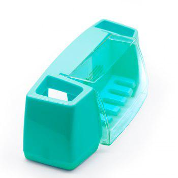 Atongm Tooth Brush Holder Set Available for 5 Toothbrushes - BLUE BLUE