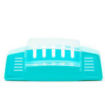 Atongm Tooth Brush Holder Set Available for 5 Toothbrushes - BLUE
