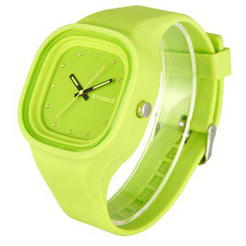 SYNOKE 4730 Fashion Leisure Sports Neutral Watch Crystal Embedded with Box - FERN