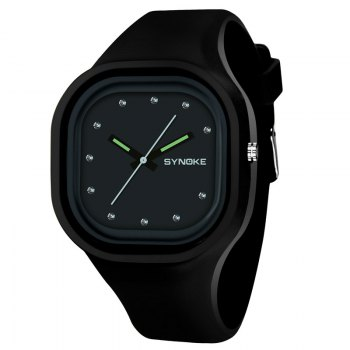 SYNOKE 4730 Fashion Leisure Sports Neutral Watch Crystal Embedded with Box - BLACK BLACK