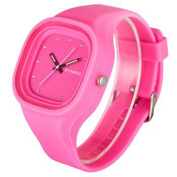 SYNOKE 4730 Fashion Leisure Sports Neutral Watch Crystal Embedded with Box -  PINK