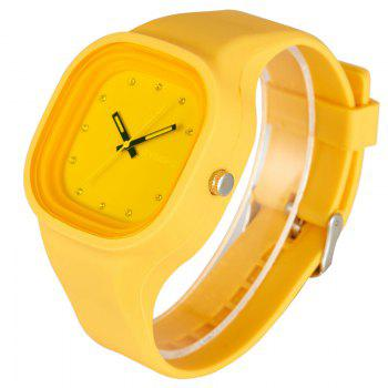 SYNOKE 4730 Fashion Leisure Sports Neutral Watch Crystal Embedded with Box - ORANGE