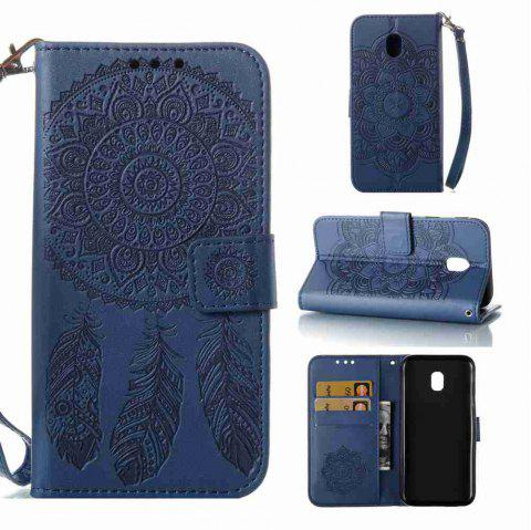 Embossing - Campanula PU Phone Case for Samsung Galaxy J330 - BLUE