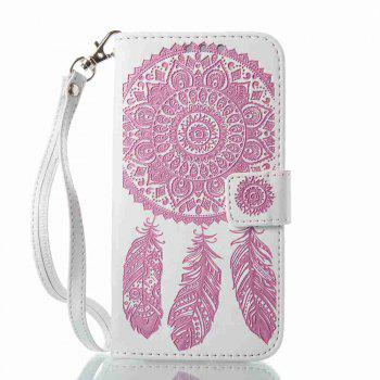 Embossing - Campanula PU Phone Case for Samsung Galaxy J330 - RED/WHITE