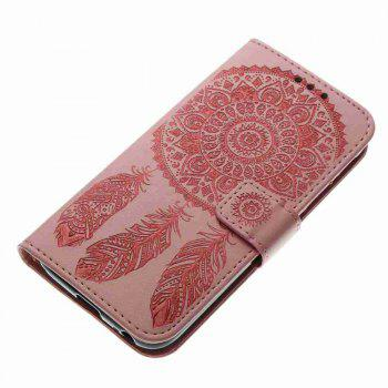 Embossing - Campanula PU Phone Case for Samsung Galaxy J330 - PINK
