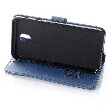 Embossing - Campanula PU Phone Case for Samsung Galaxy J730 - BLUE