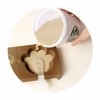 Cat Paw DIY Homemade Bar Ice Cream Mould -  COFFEE