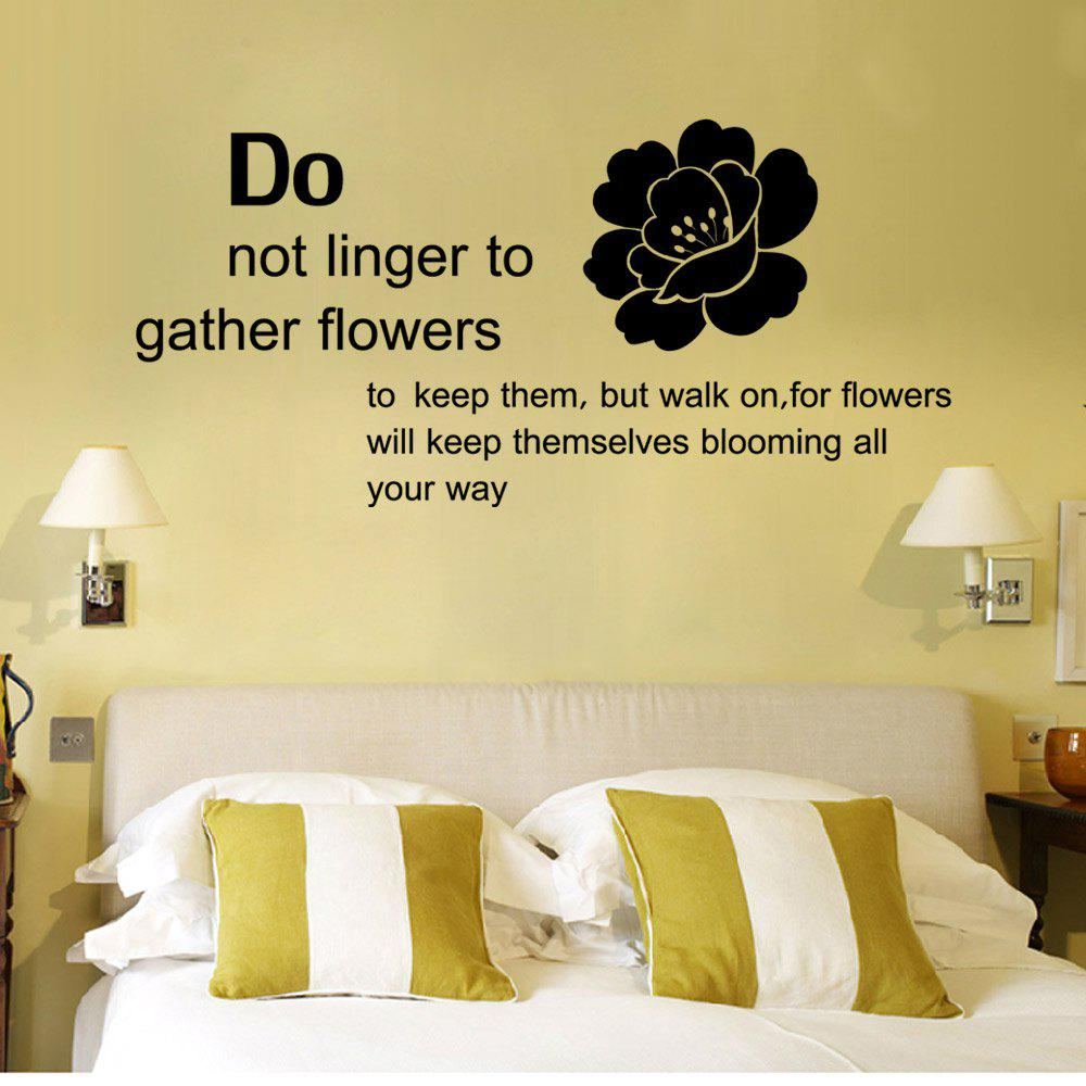 2018 DSU DIY English Words Flowers Wall Sticker Dining Room Bedroom ...