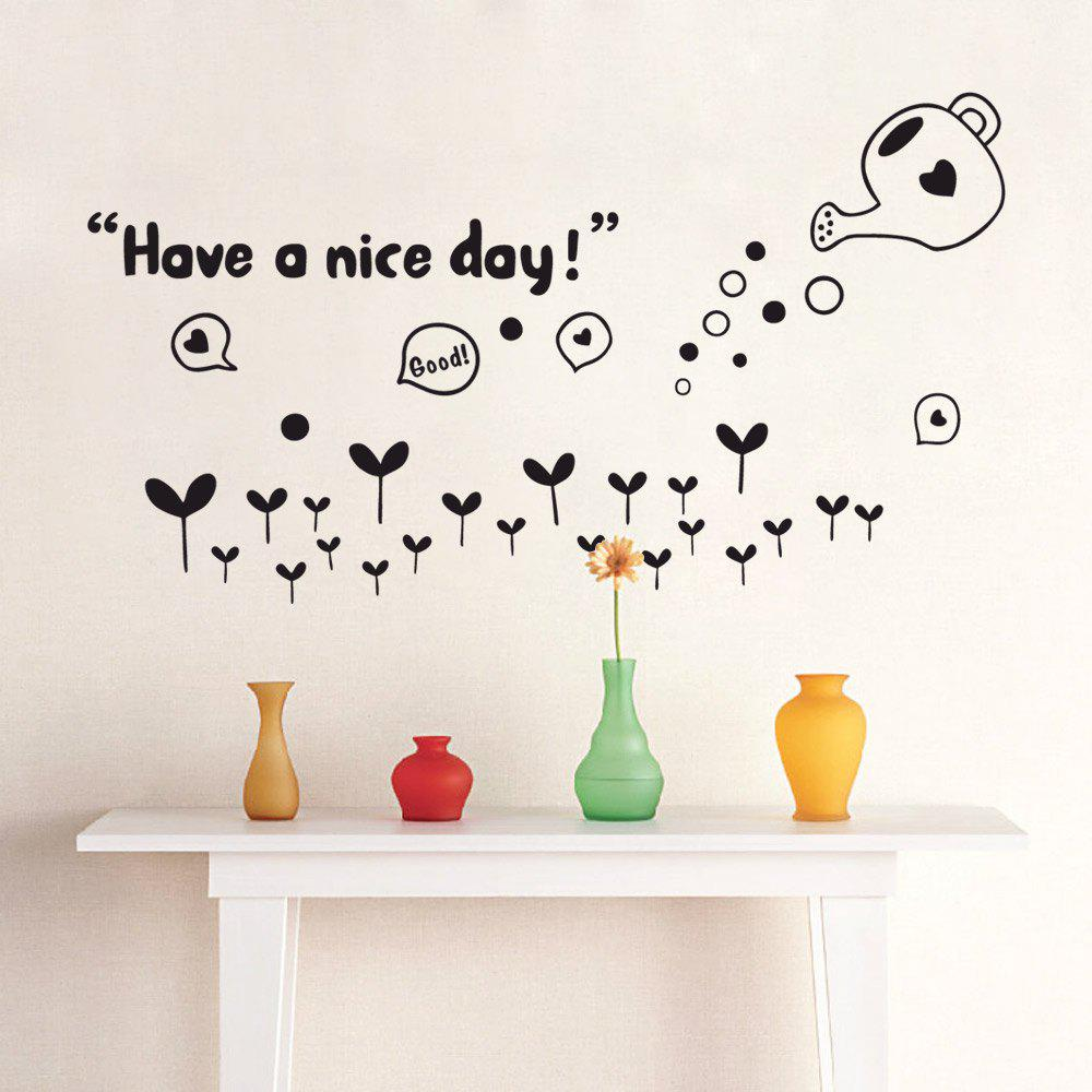 DSU DIY Have A Nice Day Words Art Vinyl Wall Sticker Mural Room Decor dsu details about happy girls wall sticker vinyl decal home room decor quote