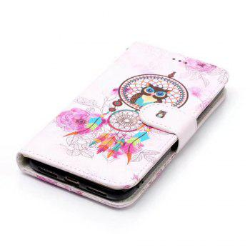 Wkae Embossed Embossed Leather Case Cover for IPhone X - PINK