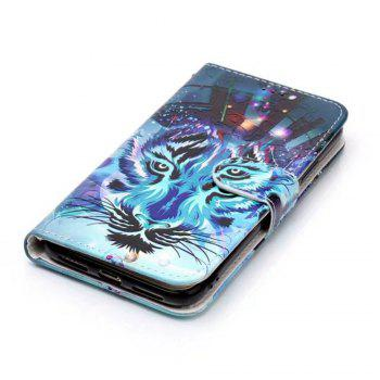 Wkae Embossed Embossed Leather Case Cover for IPhone X - DEEP BLUE
