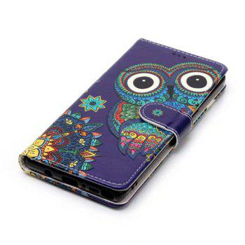 Wkae Embossed Embossed Leather Case Cover for Samsung Galaxy Note 8 - PURPLE