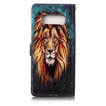 Wkae Embossed Embossed Leather Case Cover for Samsung Galaxy Note 8 - GREEN / BROWN