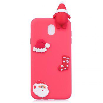 Fashionable Christmas Oldman Slicone Case for Samsung Galaxy J330 (2017) / J3 Pro - RED