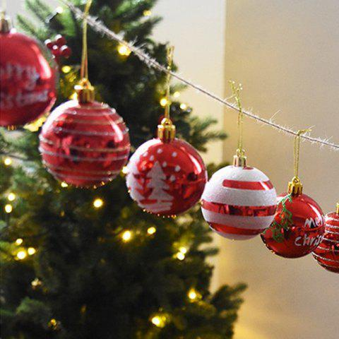 WS Christmas Decorations Balls 24PCS - RED
