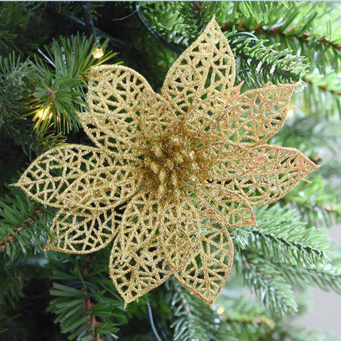 WS Wedding Decoration Artificial Simulation Pierced Fake Flowers - GOLDEN