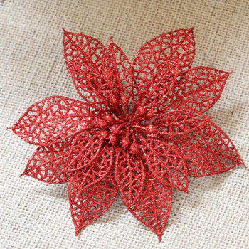 WS Wedding Decoration Artificial Simulation Pierced Fake Flowers - RED