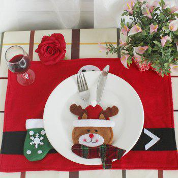 WS Christmas Design Tableware Knife and Fork Bag 3PCS - COLORMIX