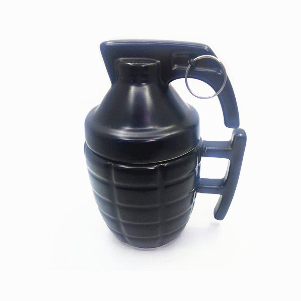 Creative Grenade Shape Ceramic Cup Mug - BLACK 1PC