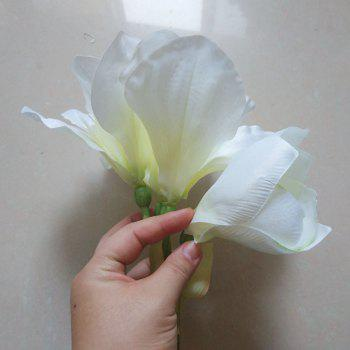 LmDec Modern Orchid Artificial Flower for Home Decoration -  WHITE