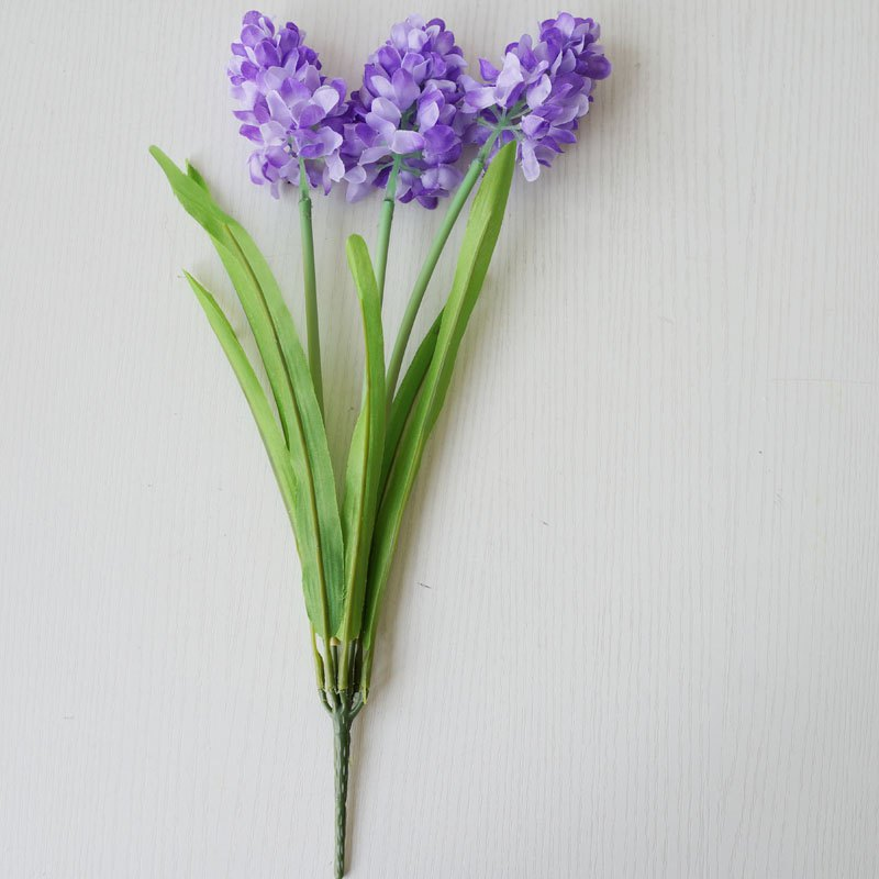 LmDec 17FXZ01 Artificial Hyacinth Flower for Home Decoration - PURPLE