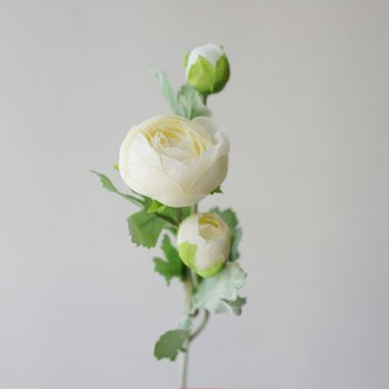 LmDec 17CBH11 Artificial Camellia Flower for Home Decoration - WHITE WHITE