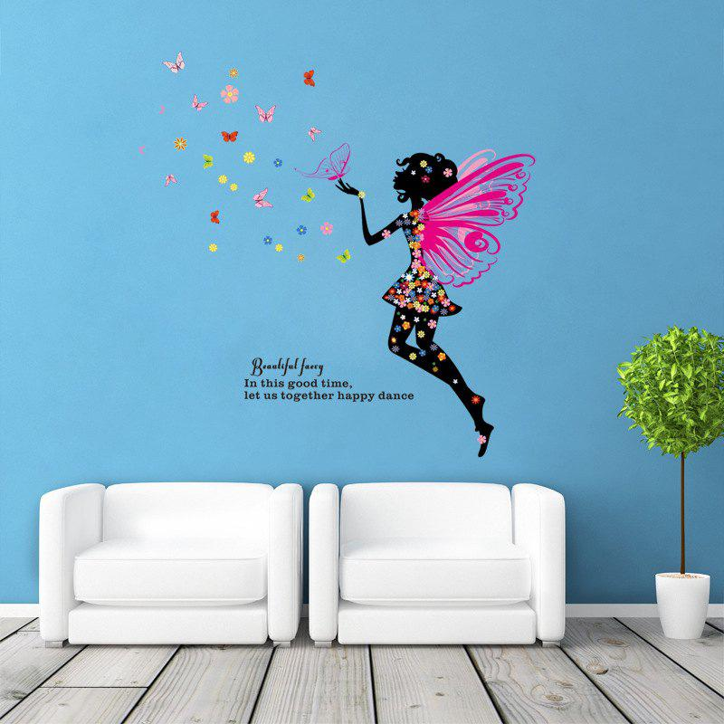 DSU New Butterfly Flower Fairy Wall Sticker Kids Room Bedroom Removable Decor Art Home Mural dsu details about happy girls wall sticker vinyl decal home room decor quote