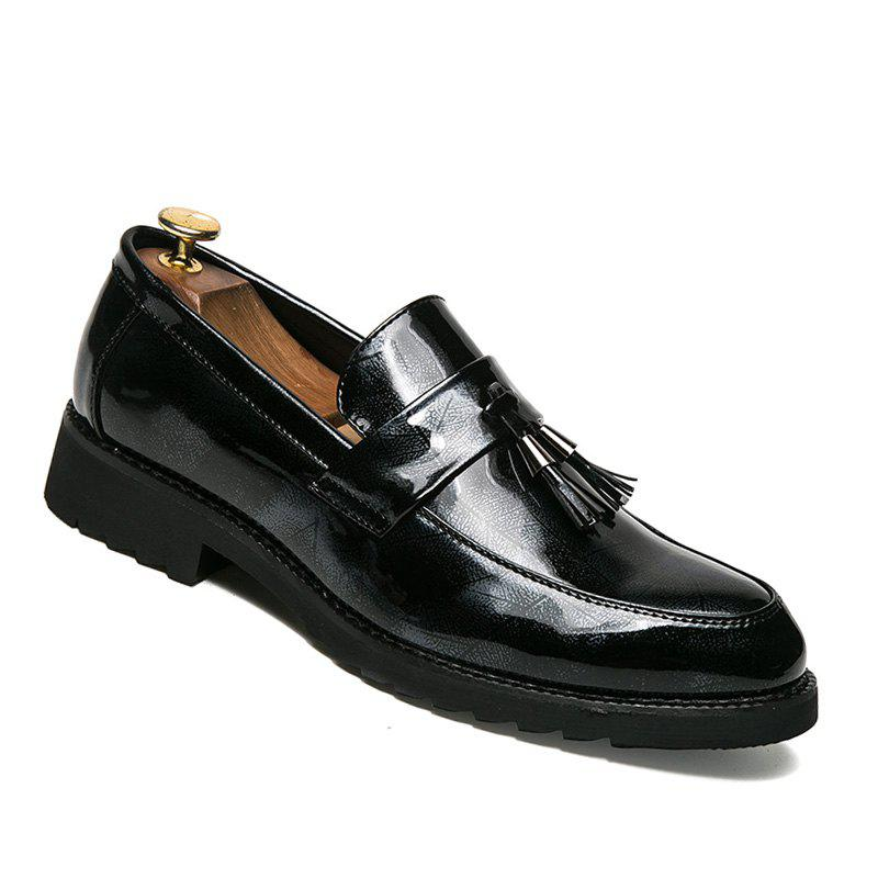 Men Casual Fashion Outdoor Travel Business Tassels Warm Shoes Size 38-43 - BLACK 43