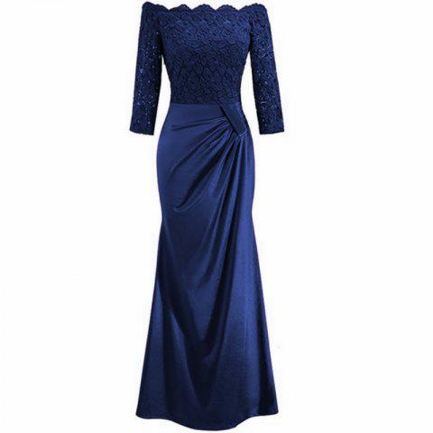 Long Sleeve Dress lace Together Cultivate One's Morality - BLUEBELL XL
