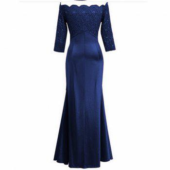 Long Sleeve Dress lace Together Cultivate One's Morality - BLUEBELL 2XL