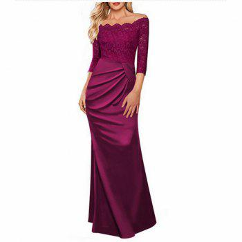 Long Sleeve Dress lace Together Cultivate One's Morality - ROSE RED ROSE RED