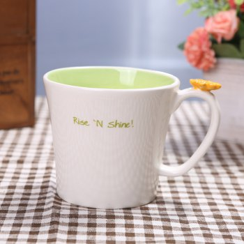 550ML Good Morning Rabbit Cup -  GREEN