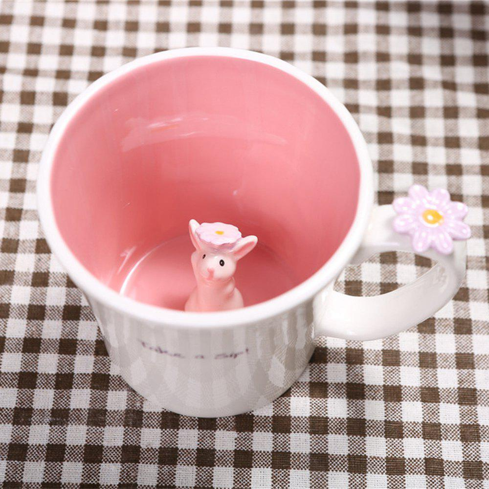 Mug 550ML Good Morning Rabbit Cup - ROSE PÂLE